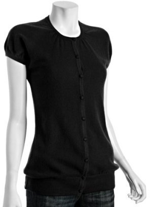 Design History black cashmere short sleeve cardigan