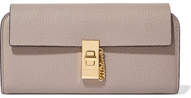 Chloé  Chloé - Drew Textured-leather Wallet - Gray