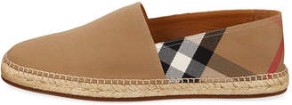 Burberry Men's Pateman Canvas Check Espadrille, Classic Check