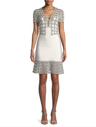 Herve Leger Women's Geometric Cocktail Dress