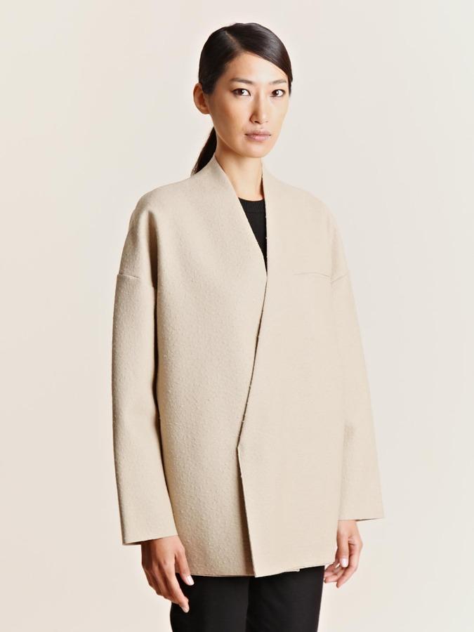 Women's Coated Felt Short Coat