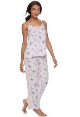 Peace Love & Fashion Juniors' Peace, Love & Fashion Tank & Pants Pajama Set