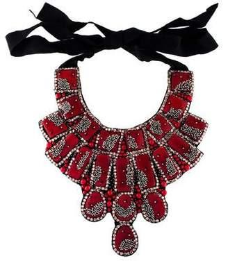 Oscar de la Renta Resin, Crystal & Bead Statement Collar Necklace