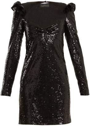 DUNDAS Long-sleeved sequin-embellished mini dress