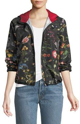 RED Valentino Flora and Fauna Faille Bomber Jacket