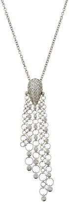 Neiman Marcus Diamonds 18k Circle-Link Diamond Pendant Necklace