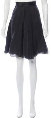 Lanvin Silk Knee-Length Skirt w/ Tags Black Silk Knee-Length Skirt w/ Tags