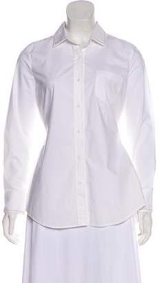Brunello Cucinelli Long Sleeve Button-Up Blouse