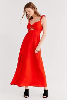 Capulet Nia Tie-Front Ruffle Maxi Dress