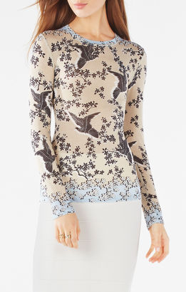 Agda Fluttering Doves Print Top $98 thestylecure.com