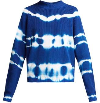 MSGM Bleached Cotton Sweater - Womens - Blue
