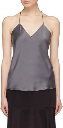 Theory Drape back silk satin camisole top