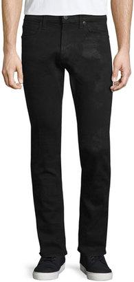 J Brand Tyler Hoyt Slim-Fit Denim Jeans, Black $258 thestylecure.com