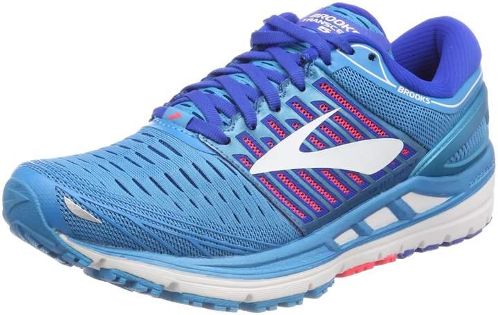 Brooks Women's Transcend 5 Running Shoe (BRK-120263 1B 39345B0 10 BLU/PNK/WHT)