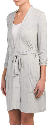 Three Quarter Sleeve Robe With Pockets