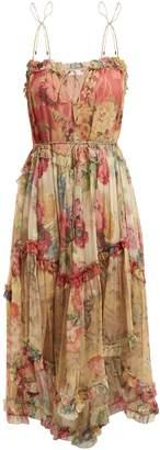 Zimmermann Melody Floating floral-print silk dress