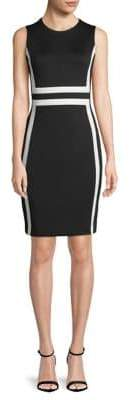 Calvin Klein Colourblock Scuba Sheath Dress