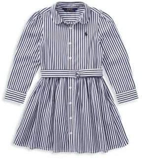 Ralph Lauren Toddler's, Little Girl's& Girl's Striped Cotton Shirtdress