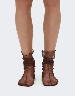 Rachel Comey Hynde Tulle Sock in Brown