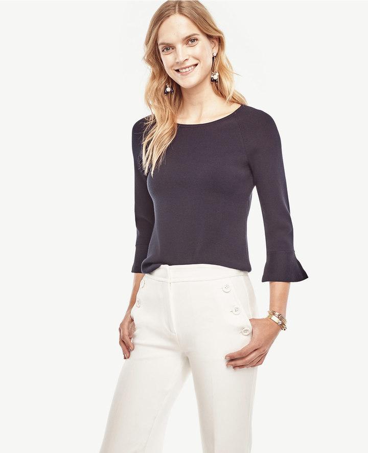 Ann TaylorRuffle Cuff Sweater