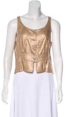 Chanel Sleeveless Metallic Top