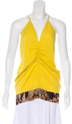 Yigal Azrouel Silk Sleeveless Top