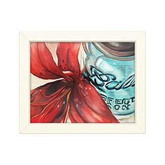 Trademark Fine Art Ball Jar Red Lily by Jennifer Redstreake