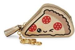 Anya Hindmarch Leather Pizza Coin Purse