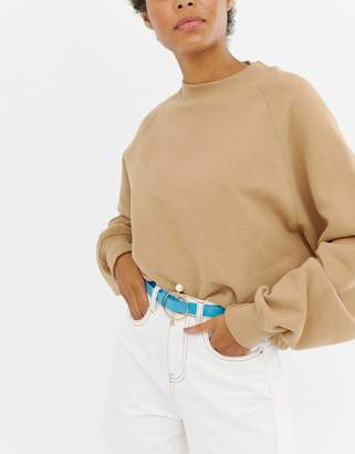 Asos DESIGN Ring And Bar Pearl Detail Hip And Waist Belt