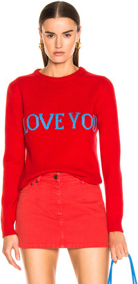 Alberta Ferretti I Love You Sweater in Red | FWRD
