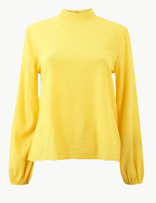 Marks and Spencer High Neck Long Sleeve Blouse