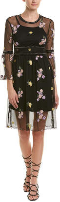 Romeo & Juliet Couture Embroidered Mesh Shift Dress