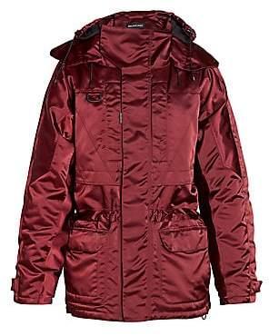 Balenciaga Men's Incognito Oversized Parka Jacket