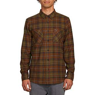 Volcom Men's Lumberg Long Sleeve Flannel Shirt