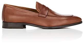 Barneys New York MEN'S STAMPED-LEATHER PENNY LOAFERS
