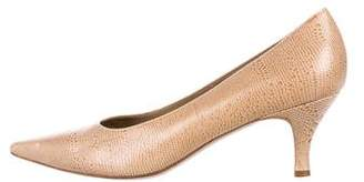 Salvatore Ferragamo Embossed Pointed-Toe Pumps