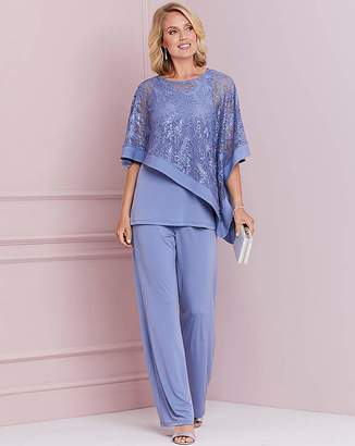 Nightingales Blue Top and Trouser Set