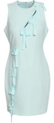 Cinq à Sept Vita Bow-Embellished Cutout Cady Mini Dress