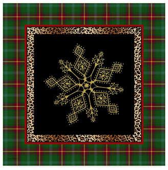 "Jean Plout 'Rustic Snowflakes' Canvas Art - 35"" x 35"""
