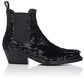 Calvin Klein Women's Western Claire Sequined Chelsea Boots - Black