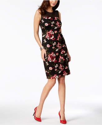 Thalia Sodi Embroidered Mesh Dress, Created for Macy's