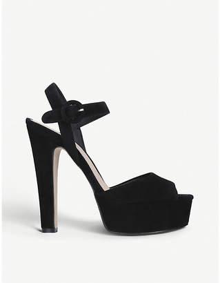 96d34320fe Kurt Geiger London Molton suede peep-toe sandals