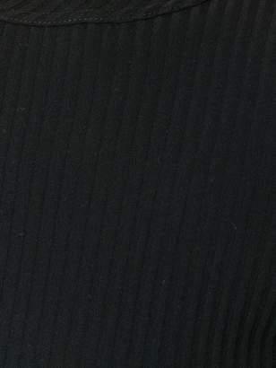 Helmut Lang frayed collar ribbedT-shirt