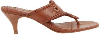 Jack Rogers Usa Brown Leather Sandals