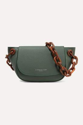 Simon Miller Bend Textured-leather Shoulder Bag - Gray green