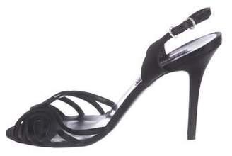 Ralph Lauren Purple Label Satin Slingback Strap Sandals