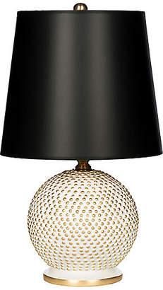 One Kings Lane Bradburn Home For Mini Ball Table Lamp - White/Black