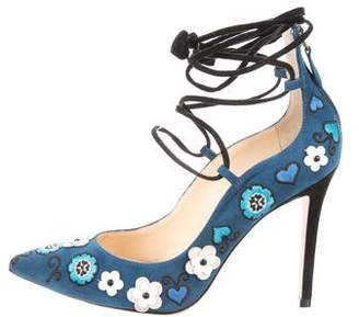 Isa Tapia Olivia Embroidered Pumps
