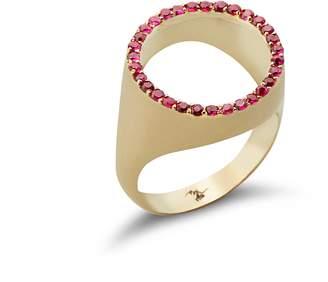 Bijoum See Through Ruby Ring