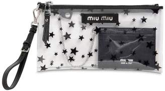 Miu Miu Mini Star Printed Plexi Clutch